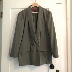 Vintage Double Breasted SAGE GREEN BLAZER
